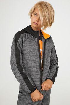 Hooded Sports Jacket - Dark gray melange - Kids | H&M US 1
