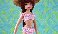 In her new iteration, created by Tonner Doll Company , The Doll You Love to Dress , boasts a high quality creamy matte vinyl, . Knit Dress, Dress Up, Fashion Models, Fashion Show, Sindy Doll, Pink Gingham, Cute Pink, Parisian, Hand Knitting