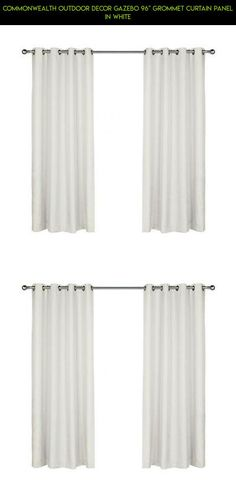"Commonwealth Outdoor Decor Gazebo 96"" Grommet Curtain Panel in White #gazebo #decor #gadgets #plans #technology #fpv #parts #tech #outdoor #drone #racing #curtain #products #shopping #camera #kit"