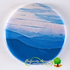 """Appalachian Rain"" Flat Art Pocket Mirror or pin or fridge magnet Baerreis Art"