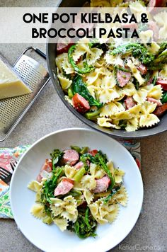 Minimal dishes and maximum flavor make this One Pot Kielbasa and Broccoli Pasta perfect for a busy night.
