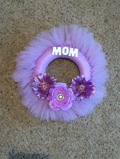 Mother's Day Lavendar/Purple Tulle wreath