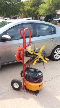 Picture of DIY Compressor Cart.jpg #woodworkingtools #garageremodeling  #GarageRemodeling