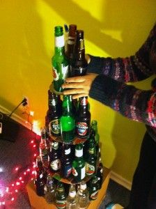 Recycled Beer Bottle Christmas tree!