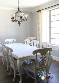 Dining table and chairs - Rustoleum White Painter's Touch Heirloom White Spray paint