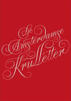 """De Amsterdamse Krulletter"" book cover on Behance"