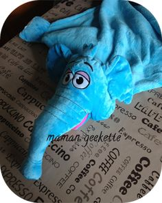 Mam@n geekette: [Concours] La Cuddle Pets éléphant adoptée par mon fils
