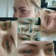 Permanent make-up Black w.eyebrows and eyeline