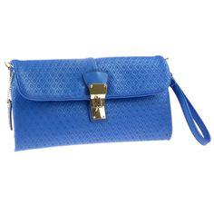 Buxton Womens Gianna Wristlet Handbag Clutch Purse. Turn lock flap. Removable wristlet