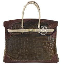 Créateurs de Luxe - 35cm Hermès Gris Elephant Alligator 1406143646b23