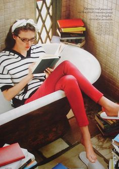 I don't know what it is, but I love reading in the tub.
