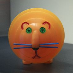 Blow-molded plastic and vinyl hamster accordion squeak toy, from an exhibition of the artist's works in Paris at the Musée des Arts Décoratifs, Czechoslovakia, 1963, by Libuše Niklová.