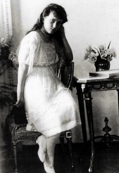 Grand Duchess Anastasia Nikolaevna of Russia (1901-1918) in formal portraits taken in 1914.