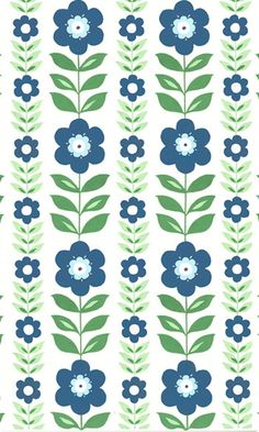 retro folk flower by Helen Gordon, £15 per m (also available as oilcloth)