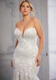 Plus Size Wedding Dresses: Julietta Collection | Morilee Stunning Wedding Dresses, Bridal Wedding Dresses, Designer Wedding Dresses, Bridesmaid Dresses, Bridesmaids, Plus Size Bridal Dresses, Plus Size Wedding Gowns, Lace Ball Gowns, Tulle Ball Gown