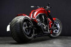 Harley Davidson V Rod Harley Davidson Custom Bike, Harley Davidson Chopper, Harley Davidson Motorcycles, Harley V Rod, Harley Bikes, Red Motorcycle, Moto Bike, Custom Street Bikes, Custom Bikes