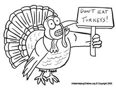 Thanksgiving Scared Turkeys Coloring Pages Printouts & Afraid Turkey Worksheets for Kids: Free Thanksgiving Day Coloring Book Printables, Coloring Sheets, & Pictures for Children to Celebrate Thanksgiving Thanksgiving Turkey Pictures, Thanksgiving Placemats, Thanksgiving Activities, Craft Activities For Kids, Crafts For Kids, Thanksgiving 2020, Turkey Coloring Pages, Thanksgiving Coloring Pages, Printable Coloring