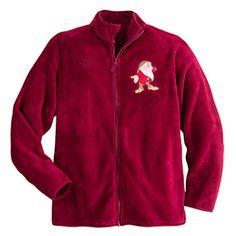 Disney Store Fleece Plush Full Zip GRUMPY Jacket Size Mens XL NEW 8006894f2