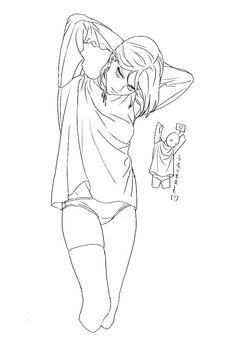 (20) k3、 (@k3_spaceybear) 的媒體推文 / Twitter Anime Face Drawing, Drawing Base, Sexy Drawings, Anime Drawings Sketches, Figure Drawing Reference, Drawing Reference Poses, Character Drawing, Character Design, Manga Poses