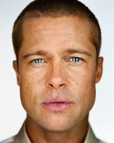 FOLLOW ME @EVERDREAMTATTOOS.COM Martin Schoeller - Brad Pitt, 2001 | From a unique collection of portrait