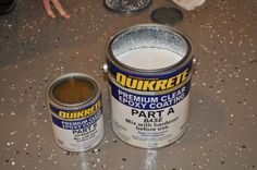How to paint a concrete garage floor (and add color flakes for a custom look!)