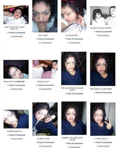 If my kids ever ask what myspace was like, I'll show them this picture. Oh Myspace..... Lol
