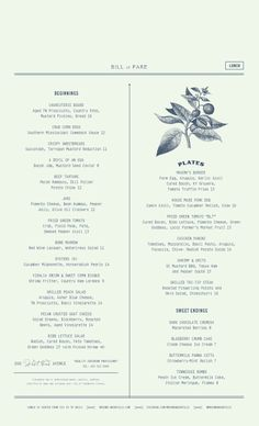 Art of the Menu: Mason's Restaurant Design, Restaurant Identity, Restaurant Restaurant, Menue Design, Food Menu Design, Web Design, Layout Design, Design Ideas, Menu Layout