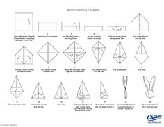 easter napkin folding instructions - Google Search