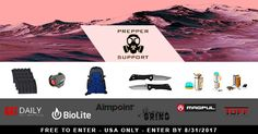 **NEW**Enter To Win The Get Prepped For Summer Giveaway via PrepperSupport.com, TUFF Products - Products that Protect, Aimpoint, Inc., Southern Grind, Magpul Industries Corp., BioLite & Guns Ammo Tactical https://wn.nr/4BTgMc <-- Use Link To Enter (ends 8/31)