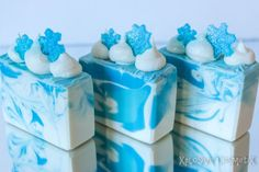 Winter Snowflake Soap Handmade Soap Cold by XplosiveCosmetiX