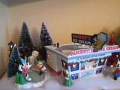 My Christmas Village part 1. Also with added Mickey Snowbabies!