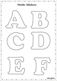 Risultati immagini per as letras do alfabeto para imprimir Alphabet A, Alphabet Letter Templates, Printable Letters, Felt Crafts, Diy Crafts, Felt Name, Felt Letters, Cardboard Letters, Applique Patterns