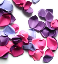Absolute Romance  Paper Rose Petals  Handmade by decoraland, €16.49