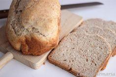 Pan de espelta integral   Comer con poco Banana Bread, Homemade, Cooking, Desserts, Pizza, Food, Homemade Breads, Deserts, Simple