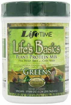 POPULAR Lifetime Life's Basics Plant Protein with Greens, 19.84-Ounces Tub: Health & Personal Care
