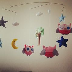 Custom Owl and Star mobile. To order visit www.for-example.co.za