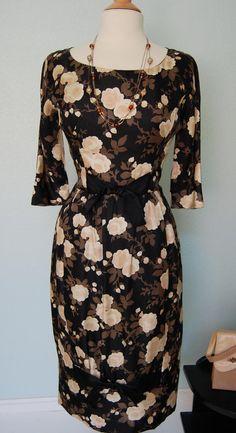 50's silk dress