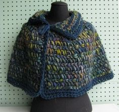tunisian crochet patterns | new! tunisian crocheted capelet by annette4035