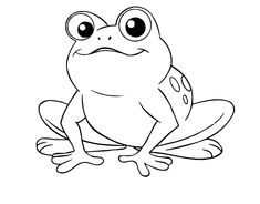 free printable kids frog coloring page educational coloring pages for kids pinterest free printable frogs and embroidery - Frog Coloring