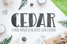 Cedar Font by AughtFive on @creativemarket