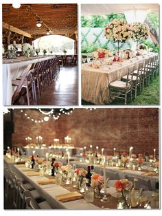 FRIDAY WHAT?: Las mesas largas en las bodas