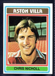 TOPPS FOOTBALLERS-BLUE-1976-CHRIS NICHOLL-ASTON VILLA No.94