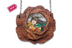 Beauty and the Beast Necklace / Collar La Bella y by LaliblueShop