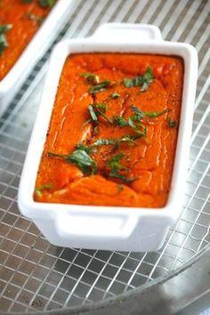 Flan de tomates, basilic et mozzarella. Recette flan légumes facile.
