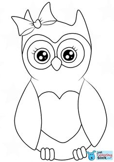 Free Cutest Cartoon Owl Coloring Pages and others free printable coloring pages for kids and adults! Fox Coloring Page, Shark Coloring Pages, Cute Coloring Pages, Cartoon Coloring Pages, Disney Coloring Pages, Free Printable Coloring Pages, Coloring Books, Kindergarten Coloring Pages, Owl Cartoon
