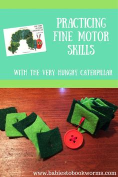 """Have some learning fun with Eric Carle's """"The Very Hungry Caterpillar""""!     Fine Motor Skills   Name Spelling   Toddler Activities"""
