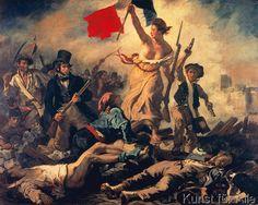 Henry-Eugène Delacroix - Die Freiheit führt das Volk