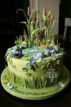 This is my swamp! This cake for my wedding is perfect with the sewer theme! Swamps are quiets beautiful places, and where I actually want to live. Shriek is love. Shriek is life.