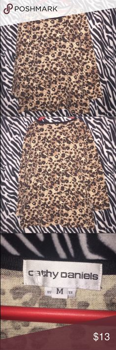 Cheetah Print Blouse 🌸 Size: Medium  🌸 Brand: Cathy Daniels  🌸 Condition: New 🌸 Closet Discounts: I offer a 10% off discount on any bundle, plus I have a listing made for buyers to choose their free gift! Cathy Daniels Tops Blouses