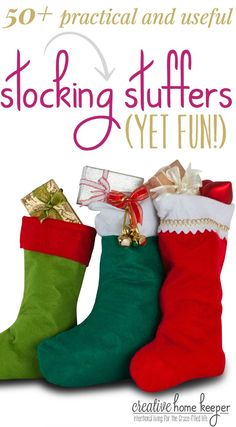 50 practical and useful (yet fun) stocking stuffers for both kids and adults alike! Best of all, they are budget friendly too, most items are less than $10!